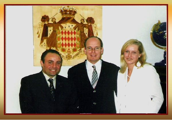 Vice President of International Royal Academy of the United Nations in Egypt , Dr Sherin Yosri and Prince Albert of Monaco. 2007